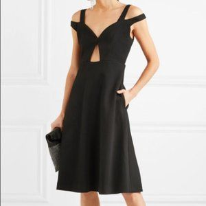 CARVEN Cutout Flare Dress
